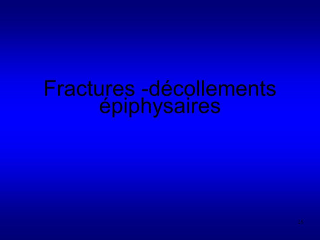 26 Fractures -décollements épiphysaires