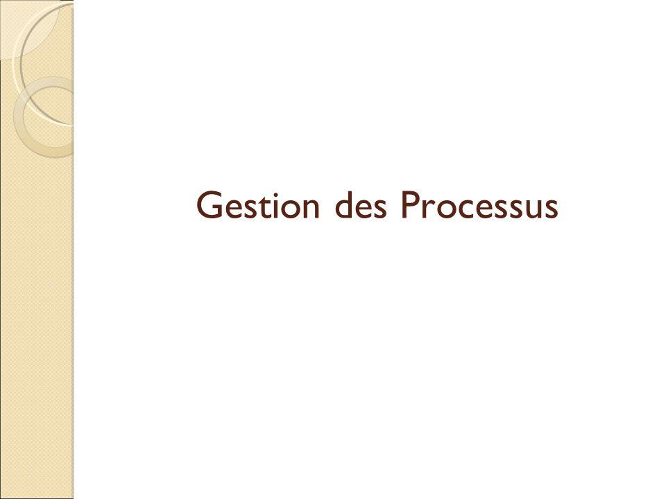 Gestion des Processus
