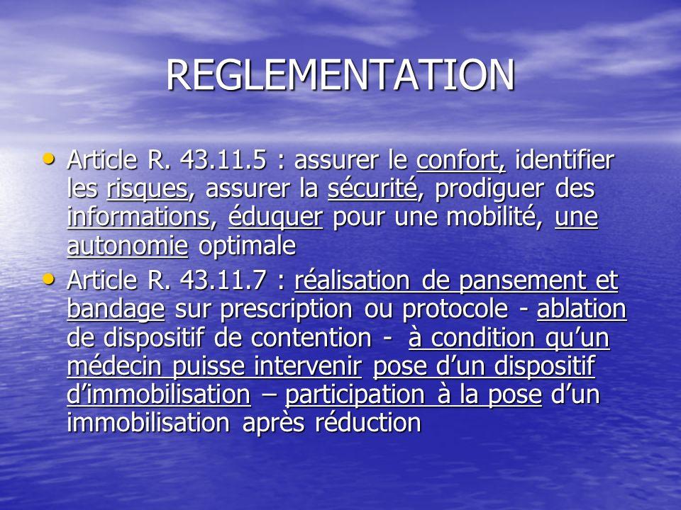 REGLEMENTATION Article R. 43.11.5 : assurer le confort, identifier les risques, assurer la sécurité, prodiguer des informations, éduquer pour une mobi