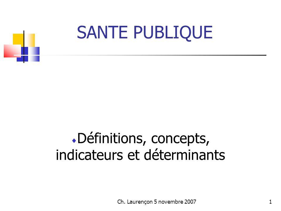 Ch.Laurençon 5 novembre 200732 Concepts et définitions...