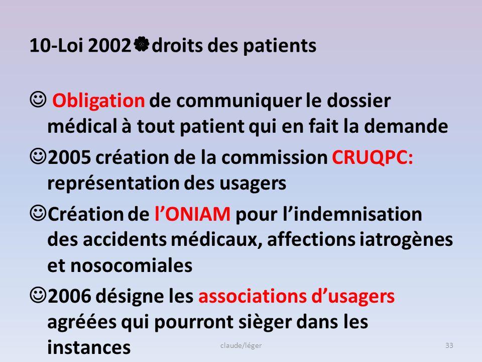 9-Programme 2009/ 2012 -Incidence des bactériémies associées aux catheter veineux centraux(< 1/1000 jours dexposition) -Diminution de 30% des IN sur s