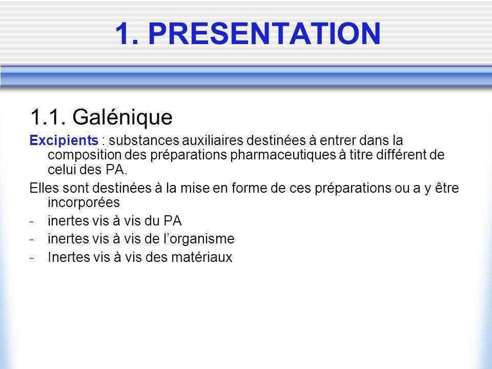 1. PRESENTATION 1.1.
