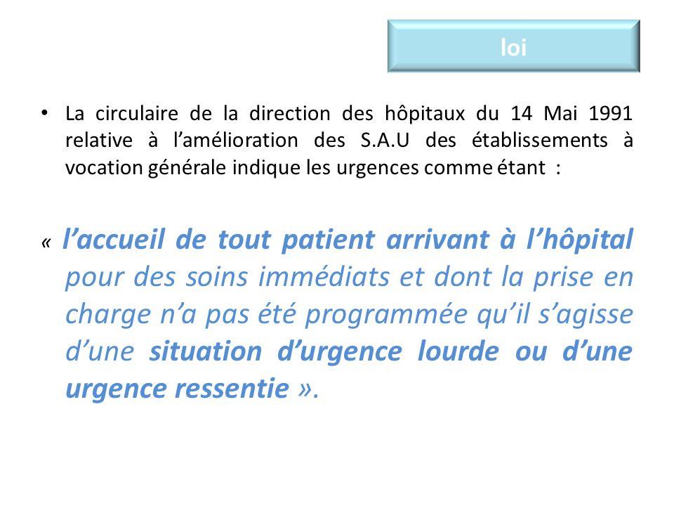 épidémiologie Il existe une part importante de patients de gravité relative (91 % de patients classés CCMU 1 ou 2).