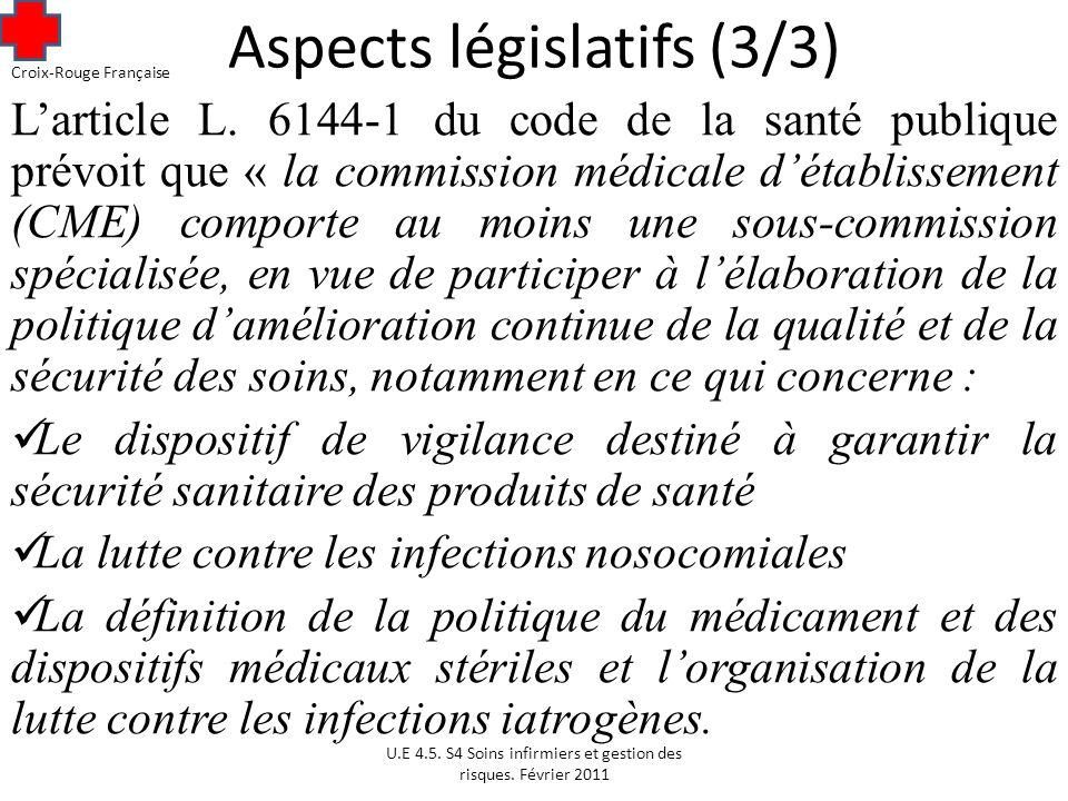 Aspects législatifs (3/3) Larticle L.
