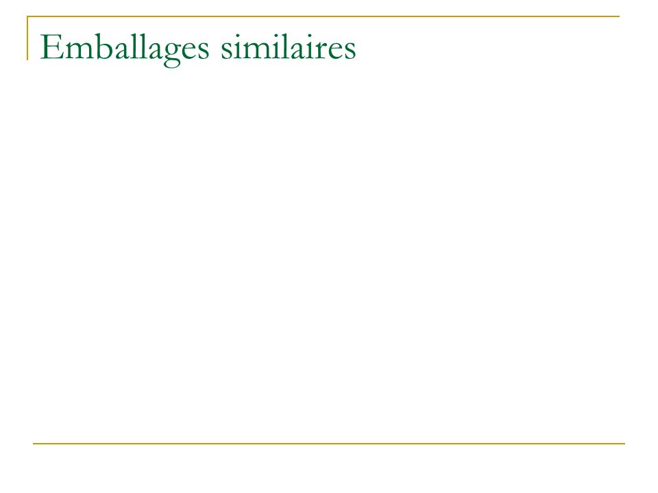 Emballages similaires