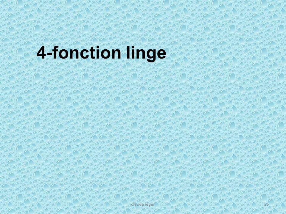 claude léger25 4-fonction linge
