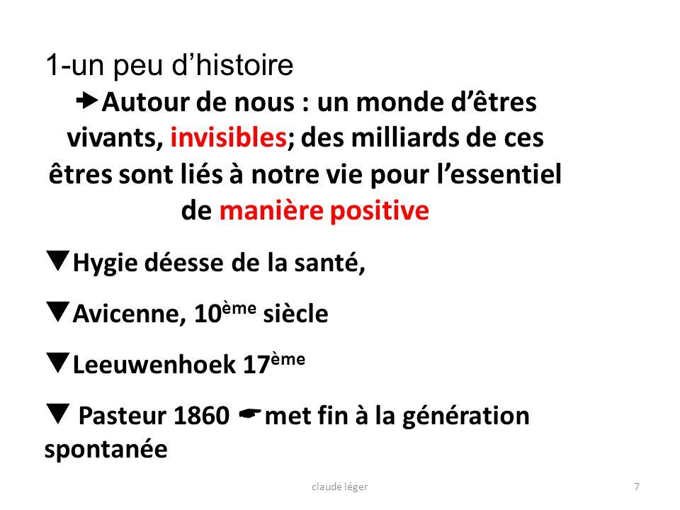 8 1860: Pasteur,tournant important de la microbiologie claude léger