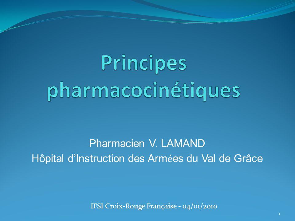 Pharmacien V. LAMAND Hôpital d Instruction des Arm é es du Val de Grâce IFSI Croix-Rouge Française - 04/01/2010 1