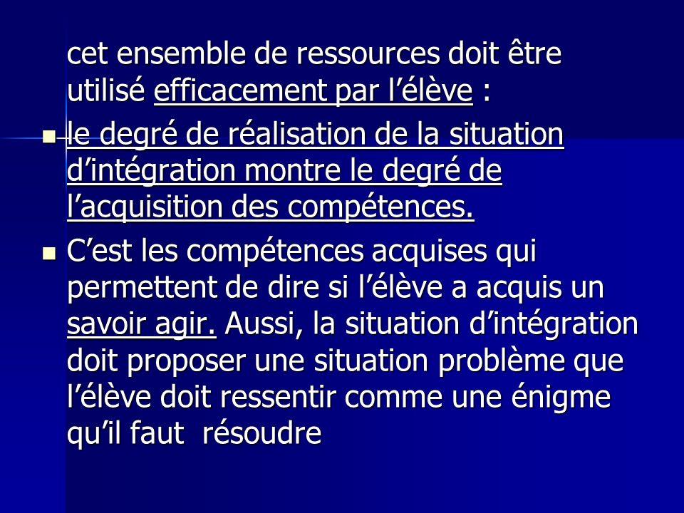 cet ensemble de ressources doit être utilisé efficacement par lélève : cet ensemble de ressources doit être utilisé efficacement par lélève : le degré