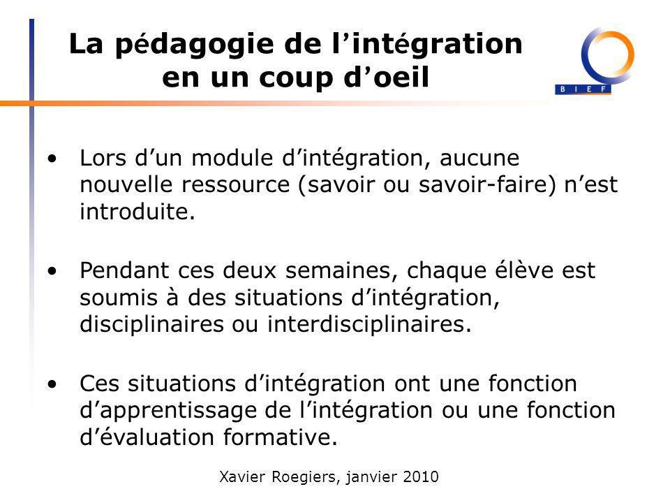 Xavier Roegiers, janvier 2010 Trois convergences non contestées Trois dénominateurs communs à toutes les approches par compétences 1.Les contenus denseignement vont plus loin que les savoirs et les savoir-faire.