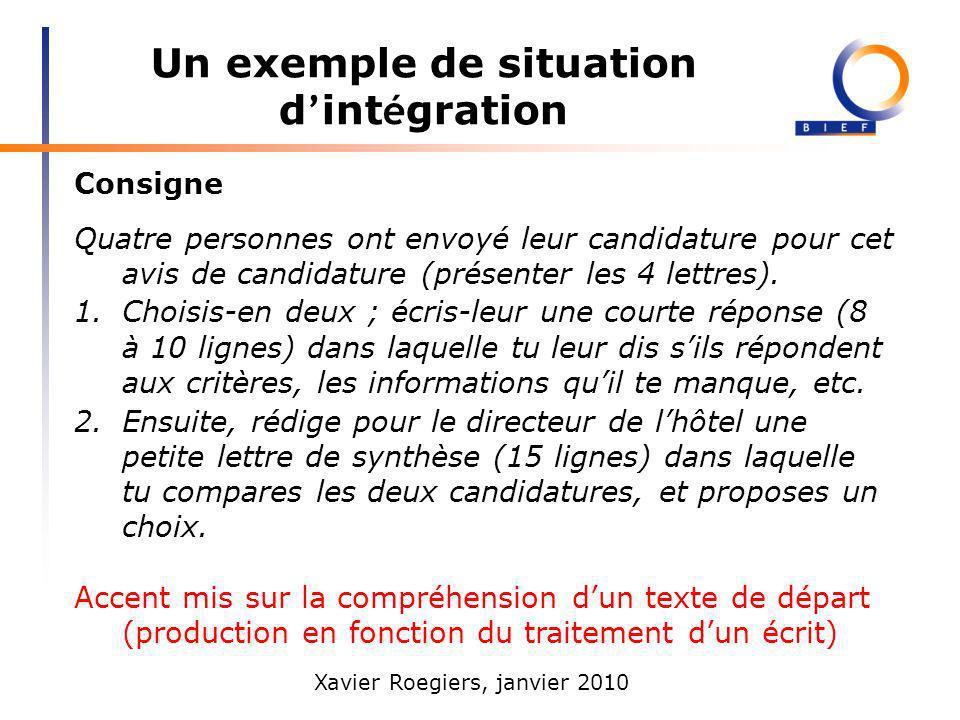 Xavier Roegiers, janvier 2010 Pour comprendre les divergences : une modélisation profils, contenus A.