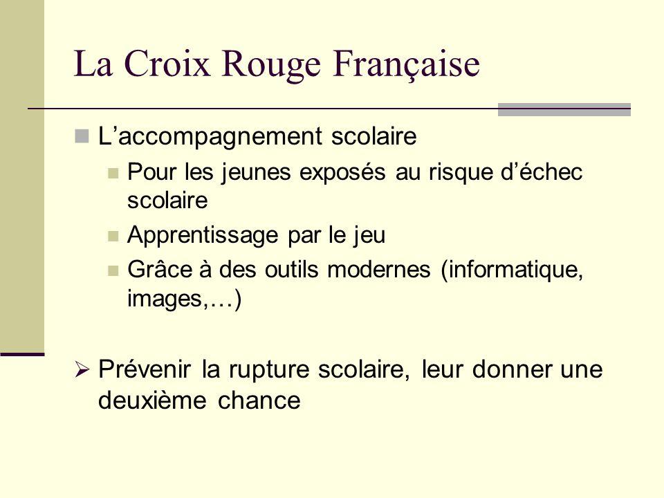 La Croix Rouge Française Laccompagnement scolaire Pour les jeunes exposés au risque déchec scolaire Apprentissage par le jeu Grâce à des outils modern
