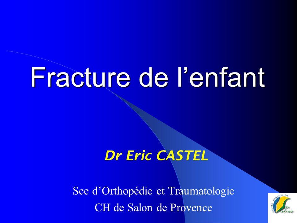 Fracture de lenfant Dr Eric CASTEL Sce dOrthopédie et Traumatologie CH de Salon de Provence