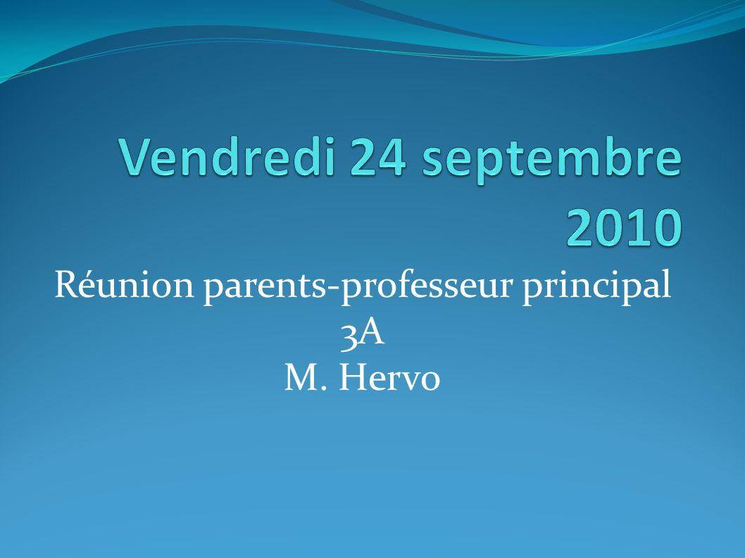 Réunion parents-professeur principal 3A M. Hervo