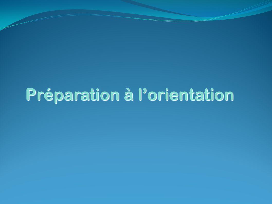 Préparation à lorientation