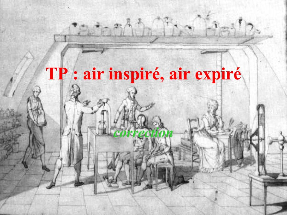 TP : air inspiré, air expiré correction