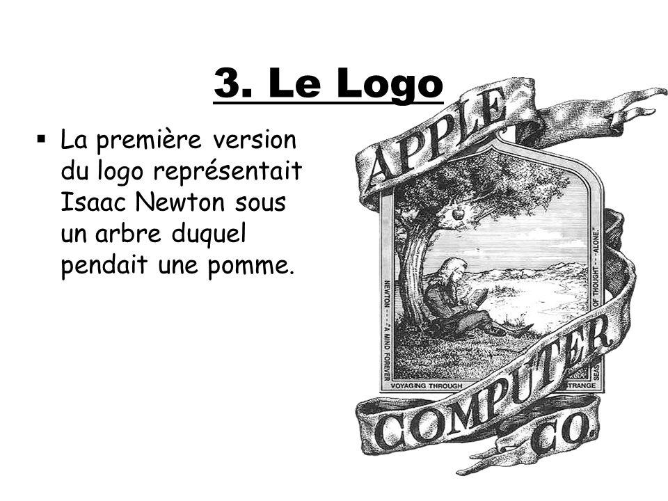 La première version du logo représentait Isaac Newton sous un arbre duquel pendait une pomme. 3. Le Logo