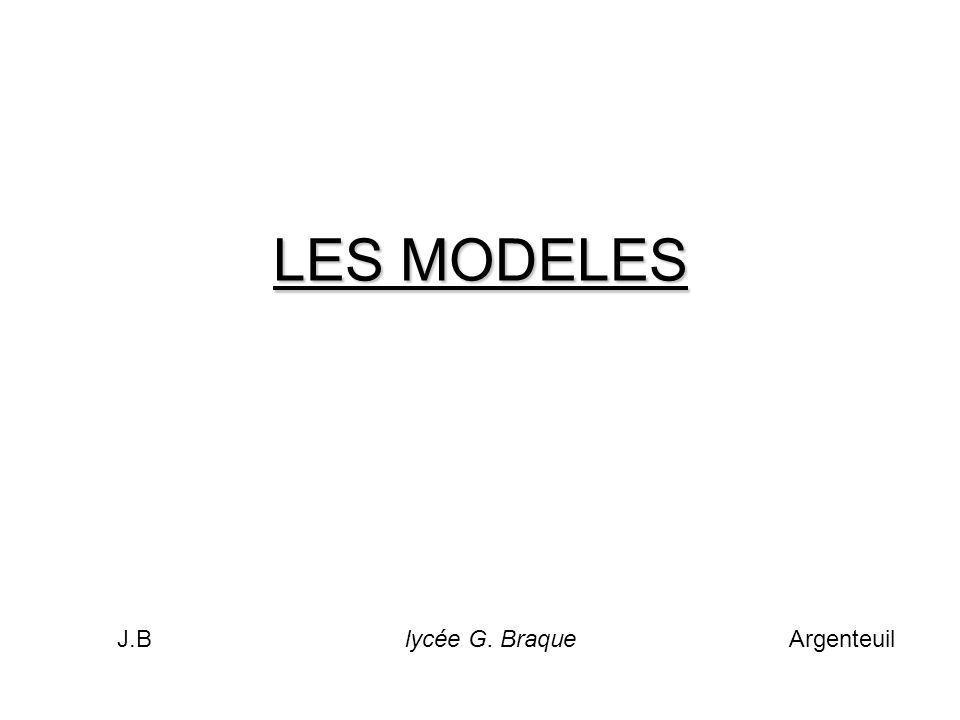 LES MODELES J.Blycée G. Braque Argenteuil