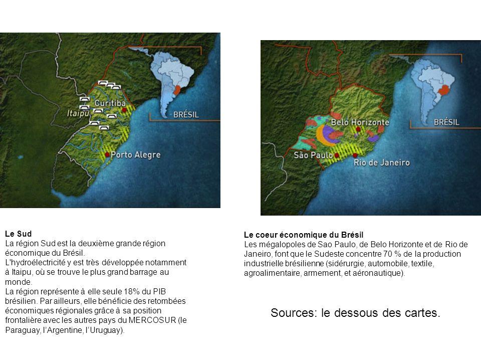 Le Sud La région Sud est la deuxième grande région économique du Brésil. L'hydroélectricité y est très développée notamment à Itaipu, où se trouve le