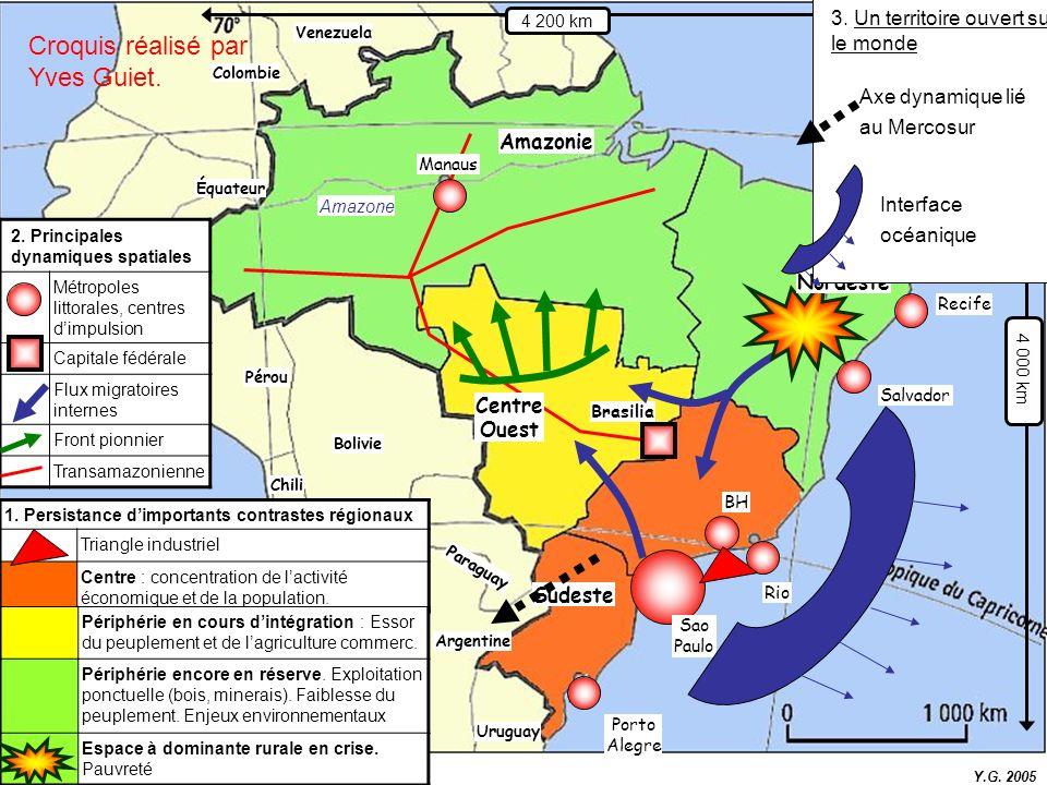 Porto Alegre Recife Rio Brasilia Amazonie BH Venezuela Paraguay Chili Équateur Argentine Pérou Bolivie Colombie Uruguay 1. Persistance dimportants con