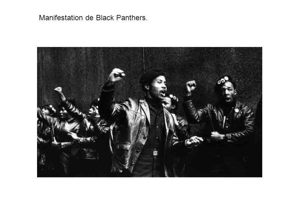 Manifestation de Black Panthers.