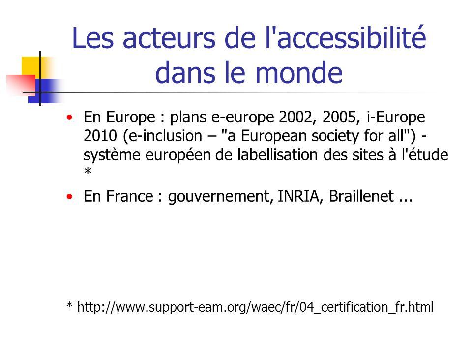 En Europe : plans e-europe 2002, 2005, i-Europe 2010 (e-inclusion –