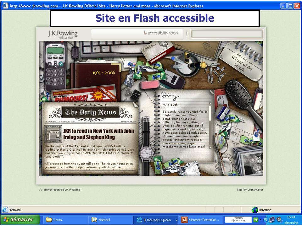Site en Flash accessible