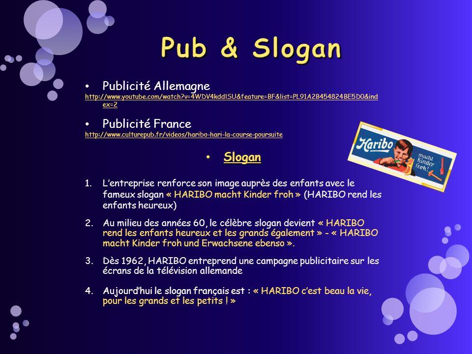 Publicité Allemagne http://www.youtube.com/watch?v=4WDV4kddlSU&feature=BF&list=PL91A2B454824BE5D0&ind ex=2 Publicité France http://www.culturepub.fr/v