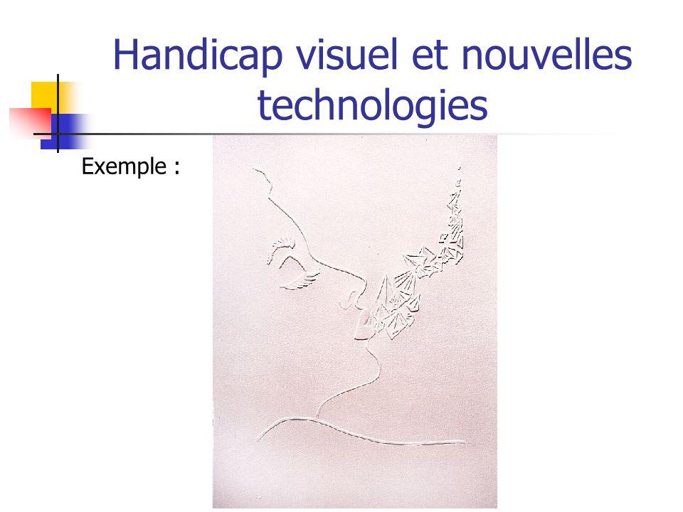 Handicap visuel et nouvelles technologies Exemple :