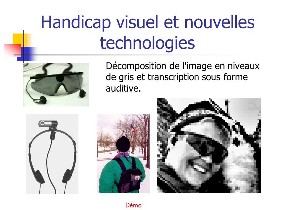 Décomposition de l'image en niveaux de gris et transcription sous forme auditive. Handicap visuel et nouvelles technologies Démo