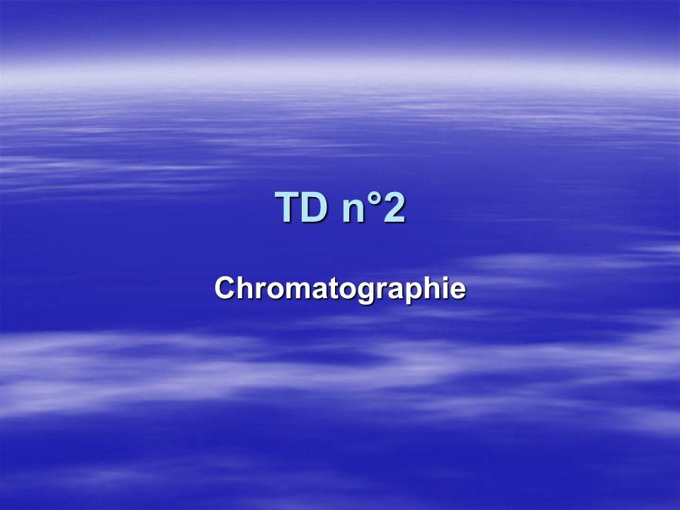 TD n°2 Chromatographie