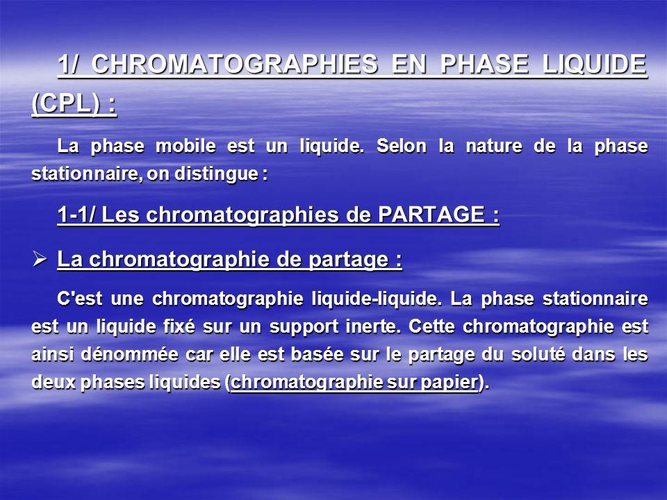 La chromatographie d exclusion : La chromatographie d exclusion : Elle est encore appelée chromatographie d exclusion-diffusion, tamisage moléculaire, gel de filtration, perméation de gel.