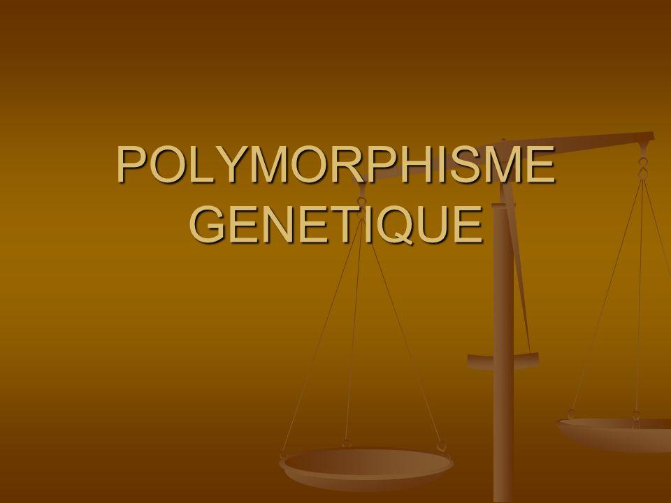 LES DIFFERENTS TYPES DE MARQUEURS GENETIQUES Marqueurs morphologiques Marqueurs morphologiques - Complexité danalyse - Influence de lenvironnement - Représentation partielle du génome - Faible polymorphisme - Expression tardifs des caractères Marqueurs biochimiques Marqueurs biochimiques - Complexité danalyse - Influence de lenvironnement - Représentation partielle du génome - Faible polymorphisme - Expression tardifs des caractères Marqueurs ADN Marqueurs ADN