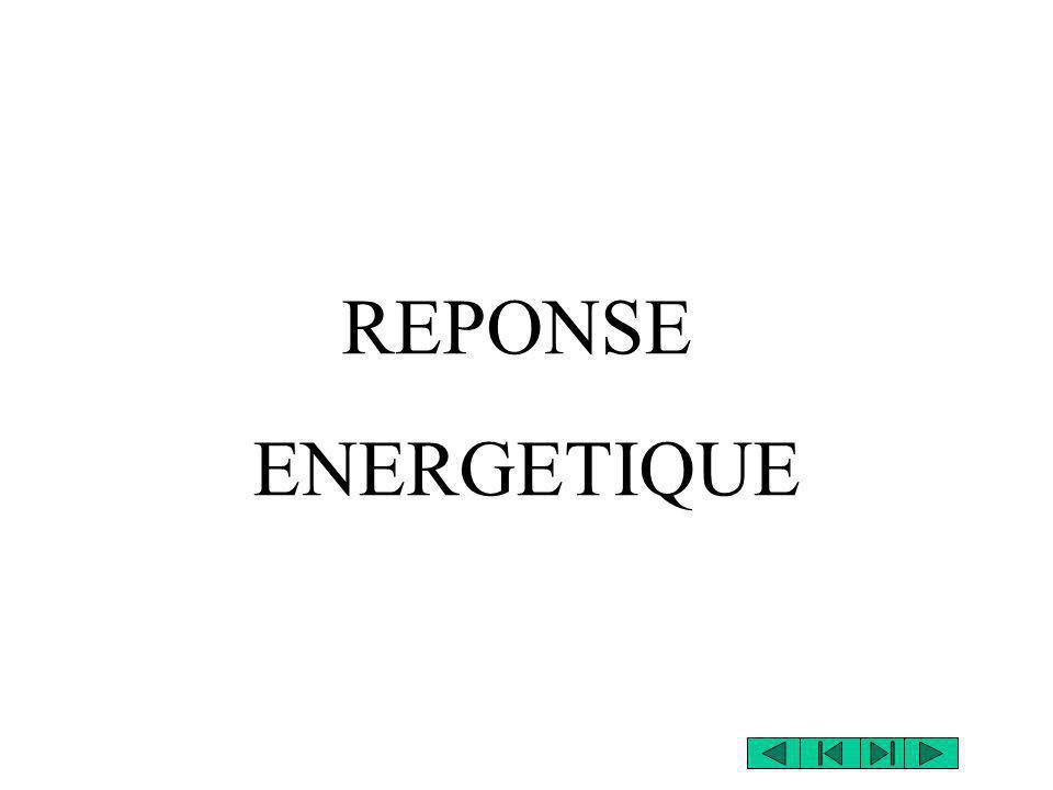 REPONSE ENERGETIQUE