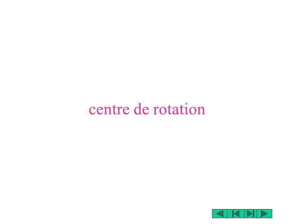 centre de rotation