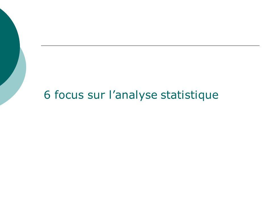 6 focus sur lanalyse statistique