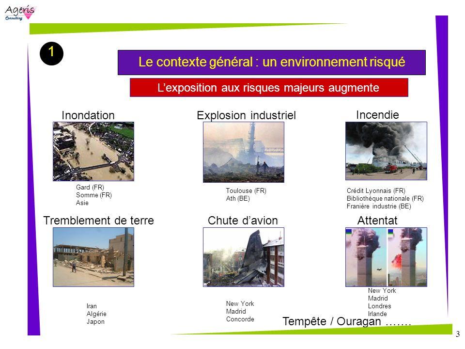 3 Lexposition aux risques majeurs augmente Inondation Incendie Tremblement de terre Attentat Chute davion Explosion industriel Gard (FR) Somme (FR) As