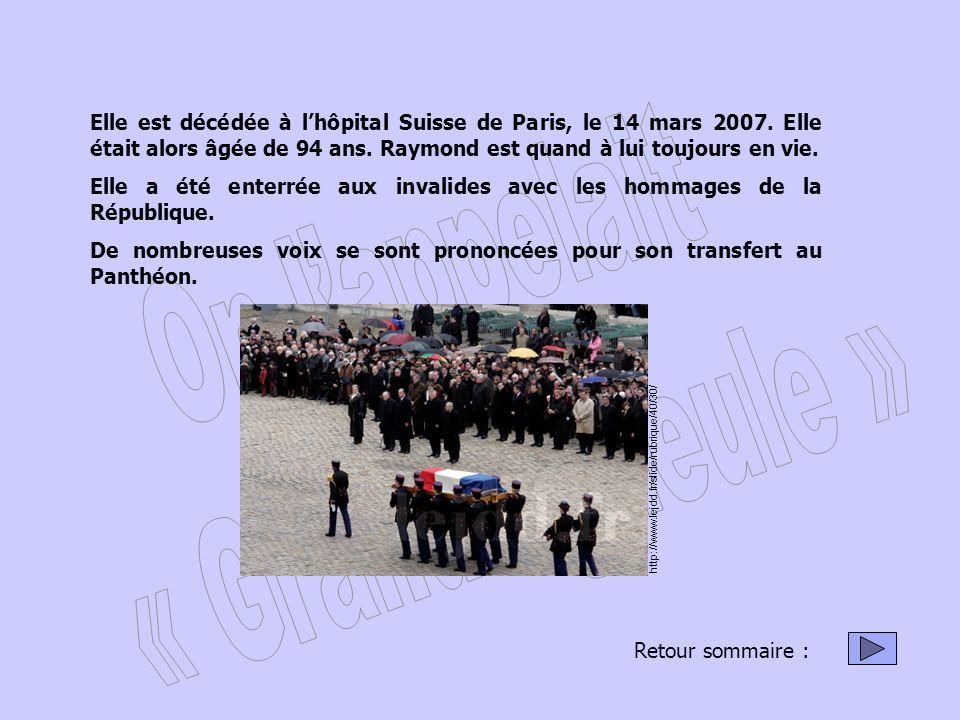 Elle est décédée à lhôpital Suisse de Paris, le 14 mars 2007.