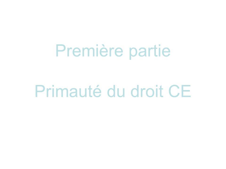 Seconde partie Effet direct du droit CE