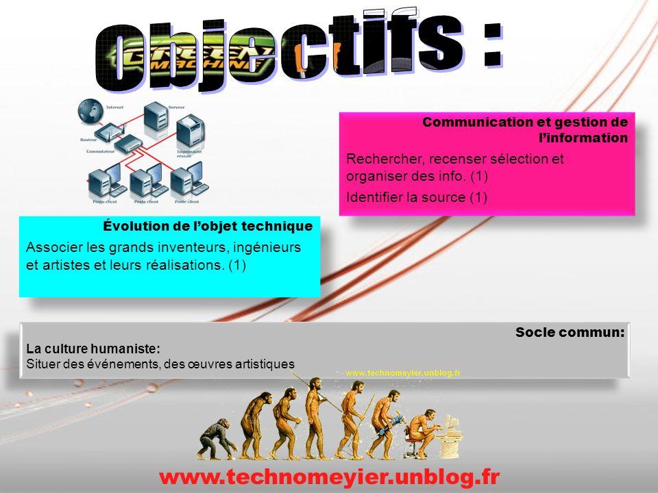 Communication et gestion de linformation Rechercher, recenser sélection et organiser des info. (1) Identifier la source (1) Communication et gestion d
