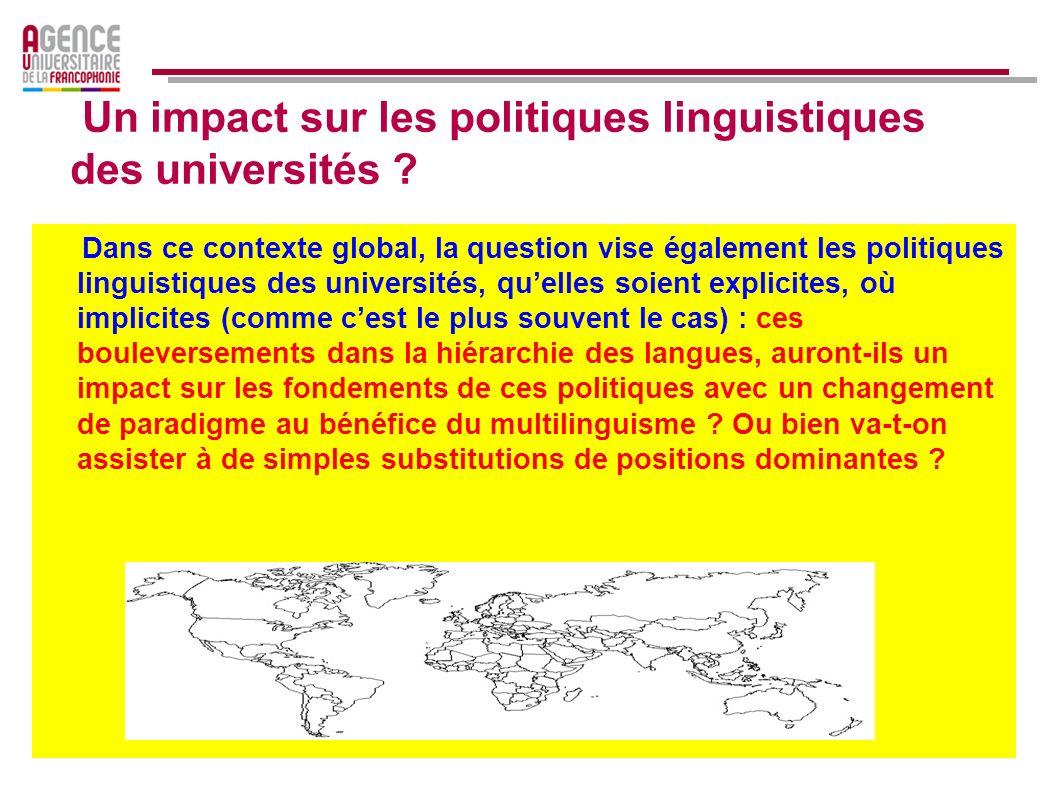 Il existerait environ 2 700 départements universitaires de français dans le monde (départements détudes françaises et francophones dans une faculté ou dans un centre de langues), pour environ 40 000 enseignants et près de 3 millions détudiants dont un tiers se consacre exclusivement aux études françaises.