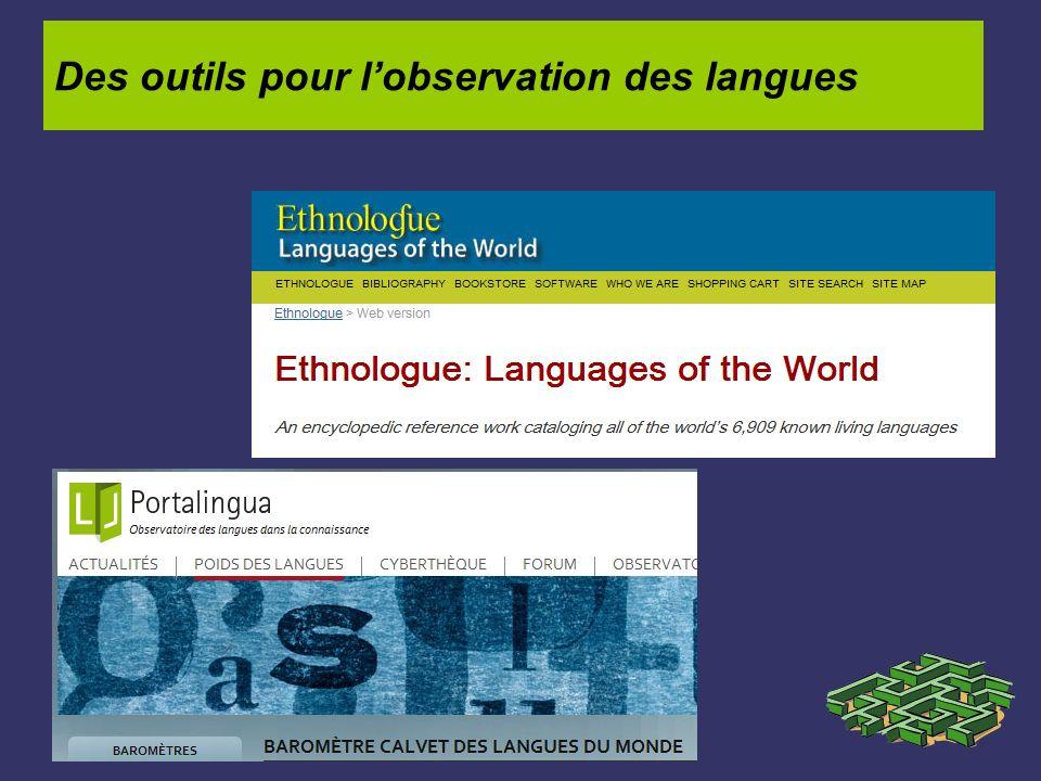 Des outils pour lobservation des langues