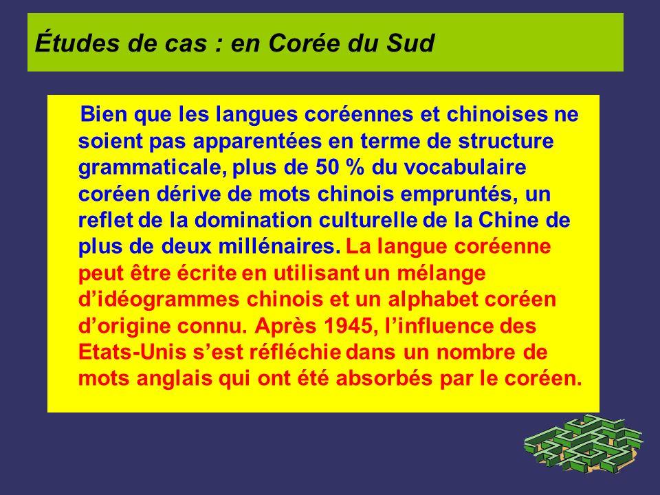 Bien que les langues coréennes et chinoises ne soient pas apparentées en terme de structure grammaticale, plus de 50 % du vocabulaire coréen dérive de