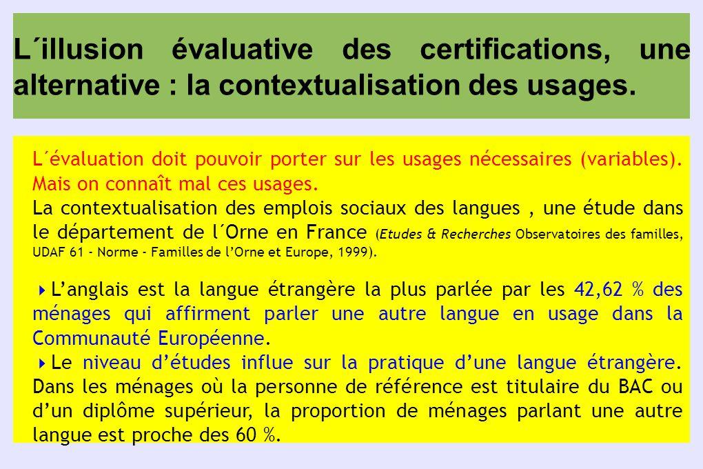 L´illusion évaluative des certifications, une alternative : la contextualisation des usages. L´évaluation doit pouvoir porter sur les usages nécessair