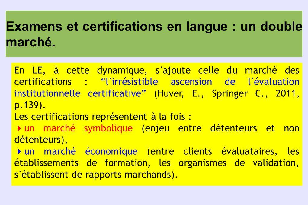 Examens et certifications en langue : construire des alternatives .