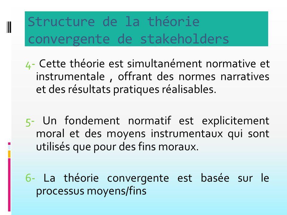 4- Cette théorie est simultanément normative et instrumentale, offrant des normes narratives et des résultats pratiques réalisables.