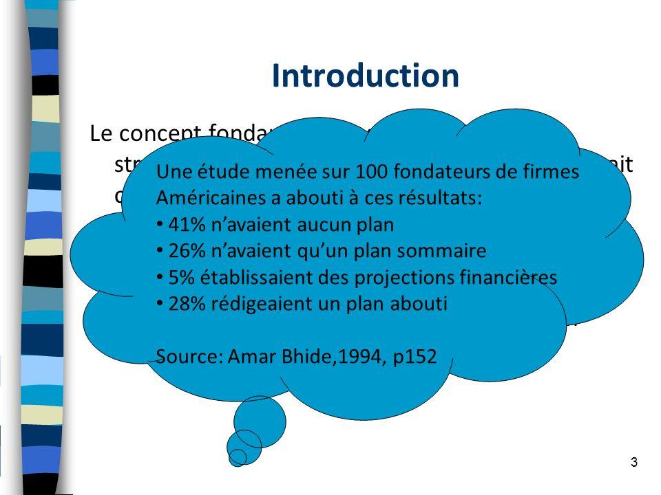 Introduction Le concept fondamental axe le processus stratégique sur la vision de lentrepreneur qui sait ce quil faut faire. La démarche stratégique e