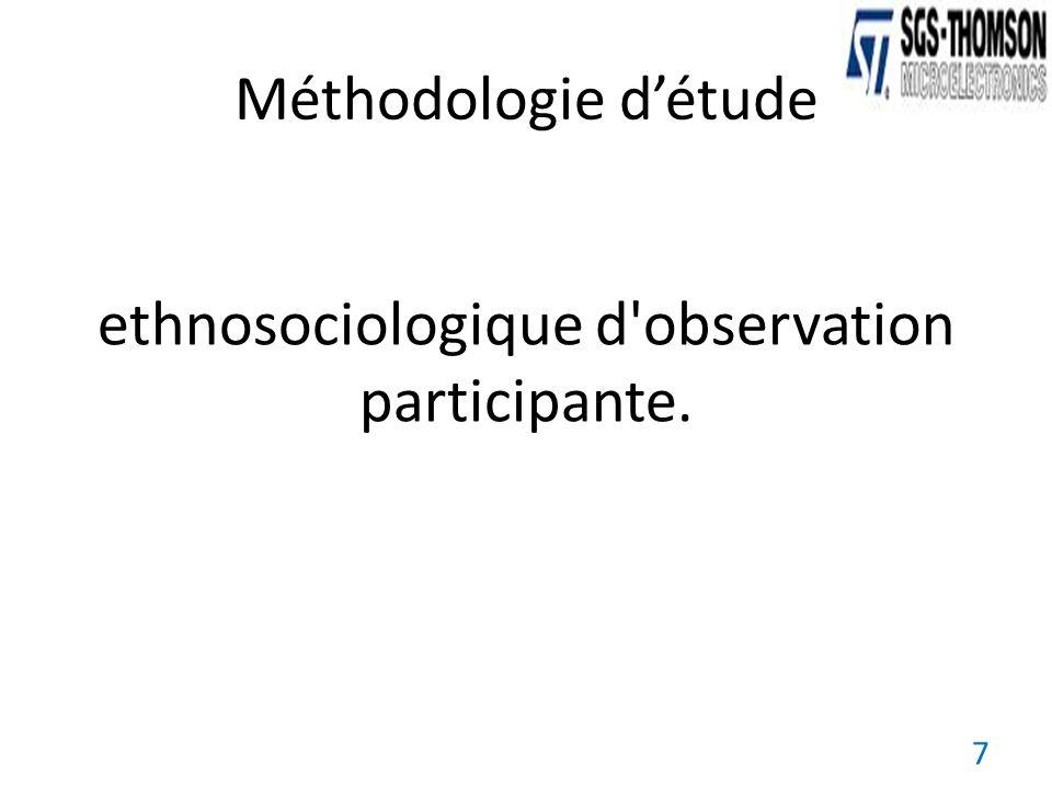 ethnosociologique d'observation participante. 7 Méthodologie détude