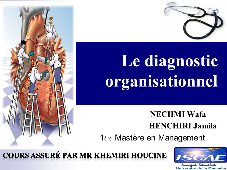 Le diagnostic organisationnel NECHMI Wafa HENCHIRI Jamila 1 ère Mastère en Management