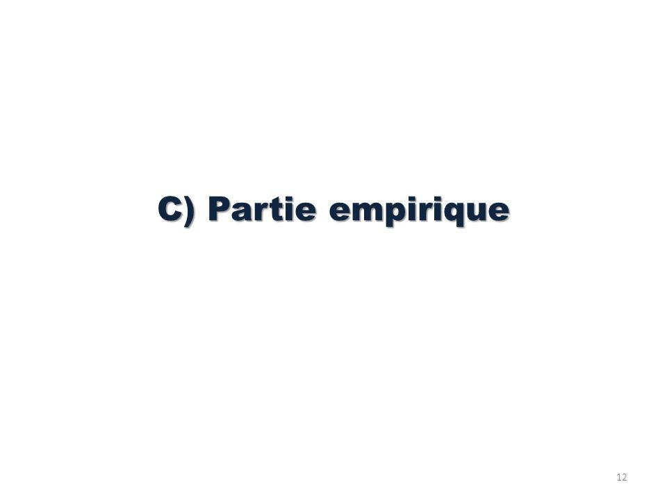 C) Partie empirique 12